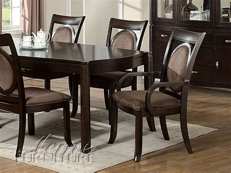 7 pc acme vienna dining set vienna finish 7 dining table set by acme 08320