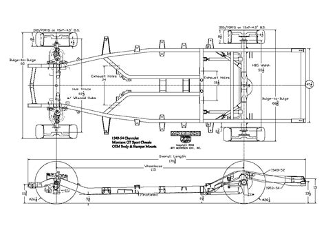 Ford Bed Sheets 1949 1954 Gt Sport Chassis Drawing Click Here For Full