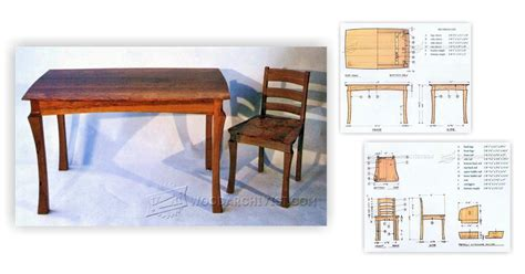 Plans For Dining Room Chairs by Dining Table And Chairs Plans Woodarchivist