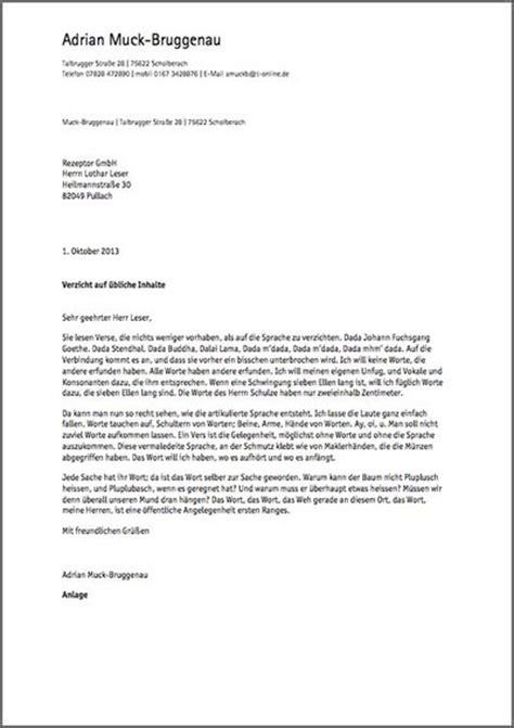 Ein Brief Beispiel briefe schreiben in markdown m 228 nnig