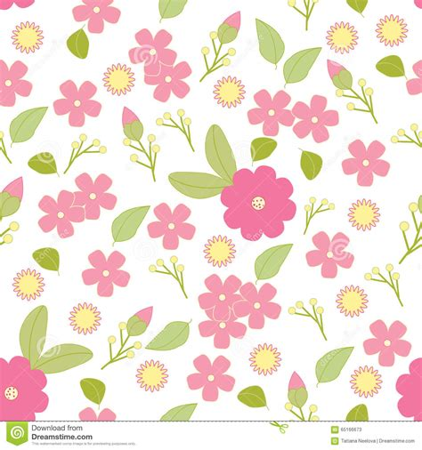 simple floral patterns vector vector seamless pattern flowers and leaves isolated