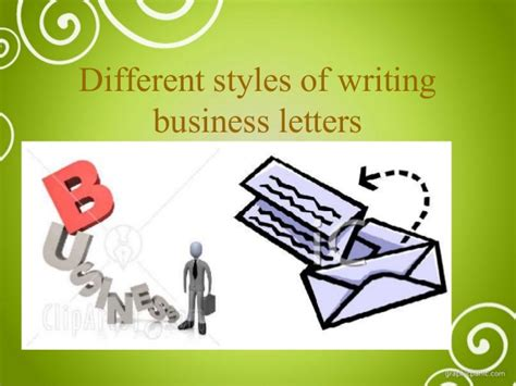 Business Letter Writing Slideshare business letter and different styles