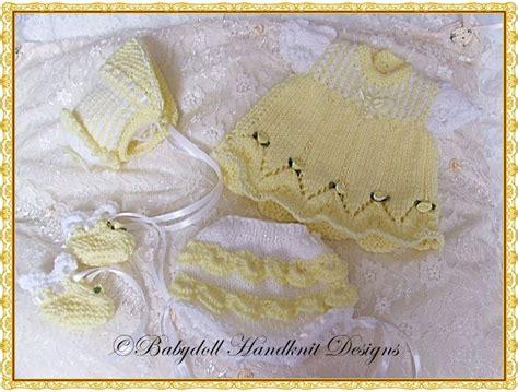 Set Knit 13 candystripe dress set for 8 13 quot dolls emmy reborn knitting pattern doll oh baby