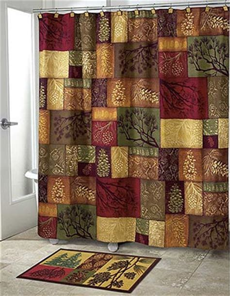 log cabin shower curtain rustic shower curtains everything log homes