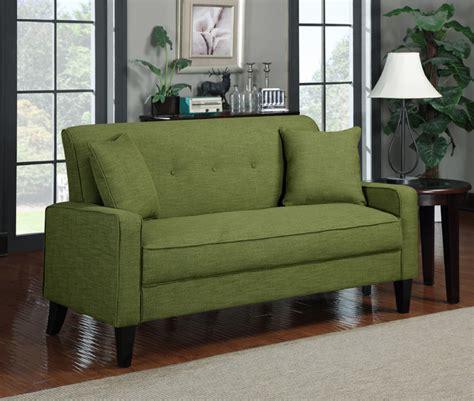 Apple Green Sofa by Portfolio Ellie Apple Green Linen Sofa