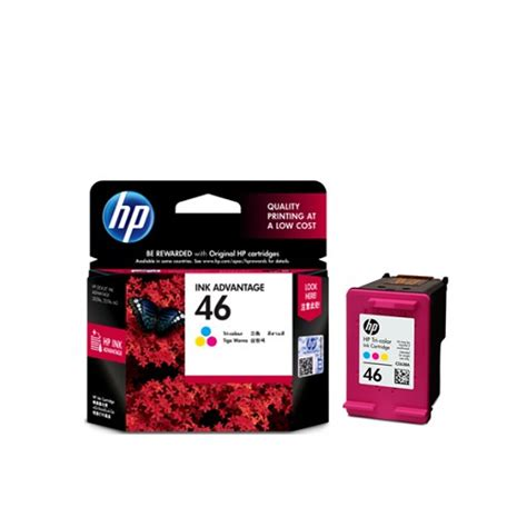 Tinta Hp 46 Color Original quot tinta printer hp quot color 46 cz638aa original