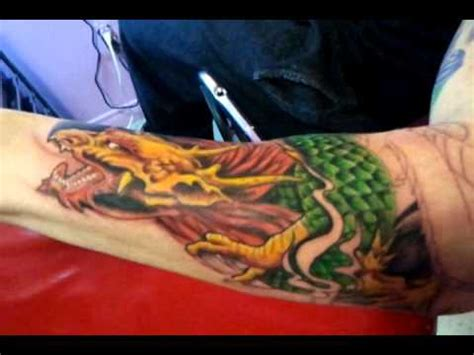 tattoo gatineau quebec universal tattoo qc dragon sleeve part 2 youtube
