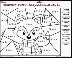 color by number multiplication math coloring pages 7th grade 03 math math