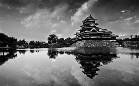 black and white japanese wallpaper free wallpapers black and white japanese lake nature
