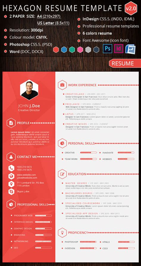 graphic design resume templates word 15 creative infographic resume templates