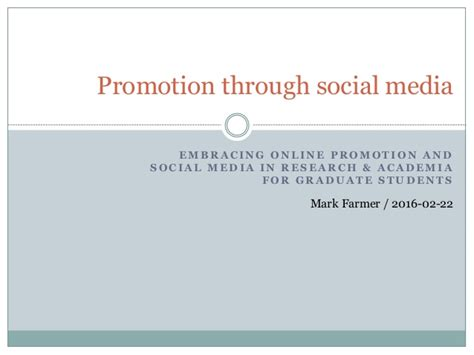 phd thesis about social media social media for research academia presentation to