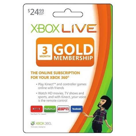 ms xbox live gold 3 month subscription gift card 24 99 bj s wholesale club