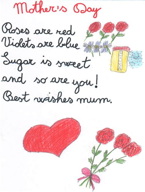 mothers day 30 touching mothers day poems from kids