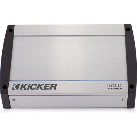 Power Kicker Ex450 4 Aplifier 4 Channel Class Ab New kicker kxm400 4 kxm series 4 channel marine audio lifier package with 4 ring