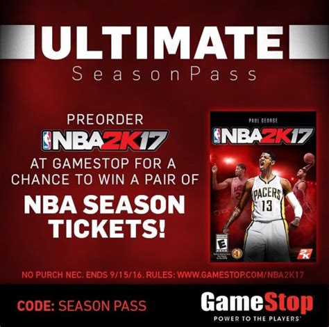 Gamestop Giveaway - nba 2k17 gamestop sweepstakes offering nba season tickets sports gamers online