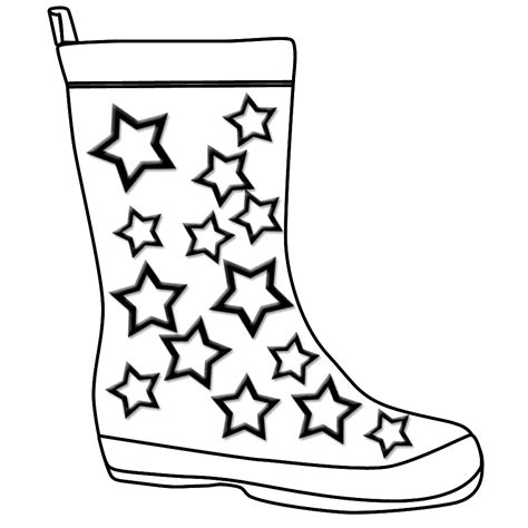 outline of wellington boot by bootkidz save download
