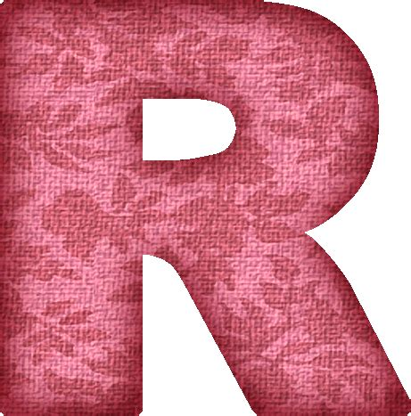 R R Upholstery by Presentation Alphabets Pink Flower Fabric Letter R
