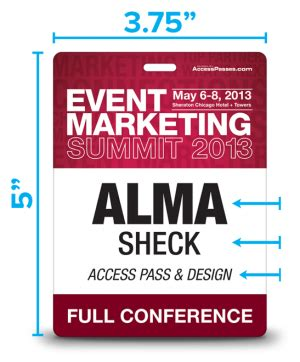 Seven Simple Steps To Superb Conference Badge Design Event Badge Template
