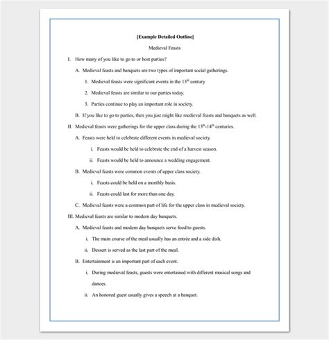 research paper template for middle school research paper outline template 36 exles formats