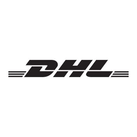 dhl black logo vector