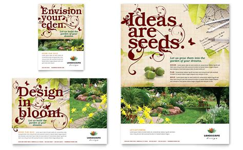 landscape design flyer ad template word publisher