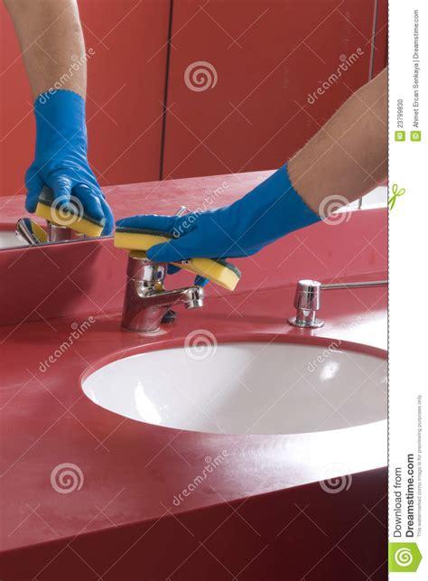 cleaning bathroom sink cleaning bathroom sink stock photo image 23799830