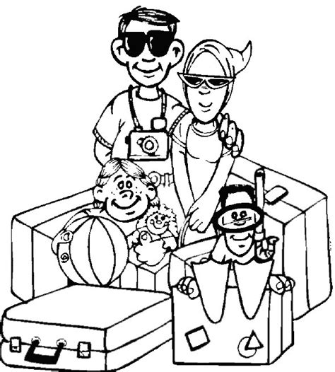 christmas vacation coloring page vacation coloring pages