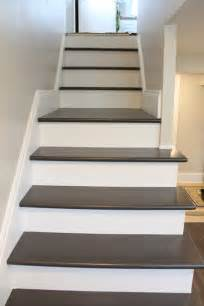 paint for basement stairs painting wood basement steps danks and honey