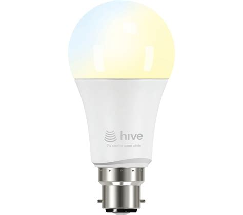 hive active light cool to warm white bulb b22 hub
