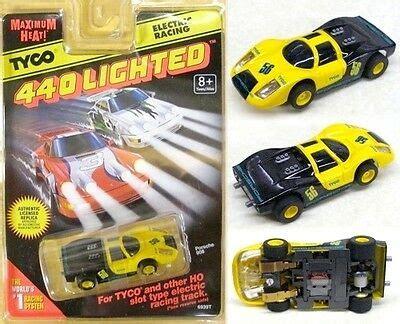 tyco  magnum rare lighted porsche  lit slot car
