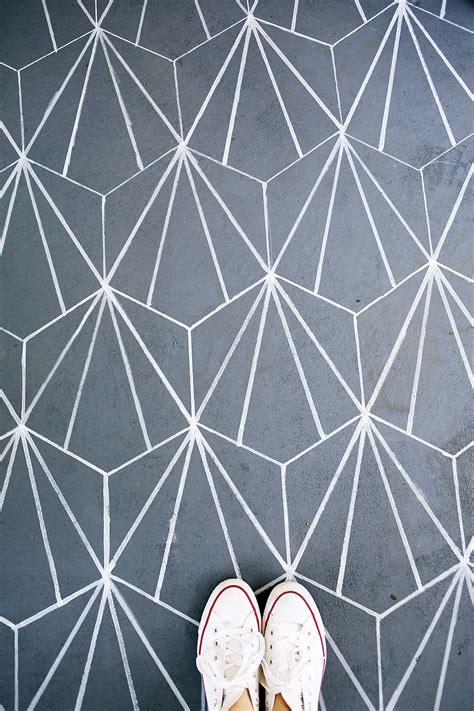 Cement Tile | faux cement tile diy a beautiful mess