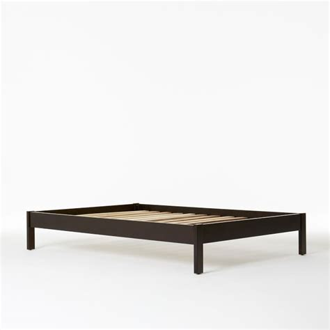 simple bed frames west elm bed frame simple bed frame chocolate west elm