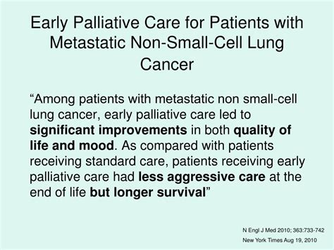 patient care news the face of lung cancer changes but ppt supportive palliative care service professional