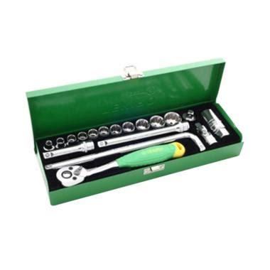 Kunci Sok Tekiro Fullset jual tekiro 18pcs 6pt set kunci sok 3 8 inch box besi harga kualitas terjamin