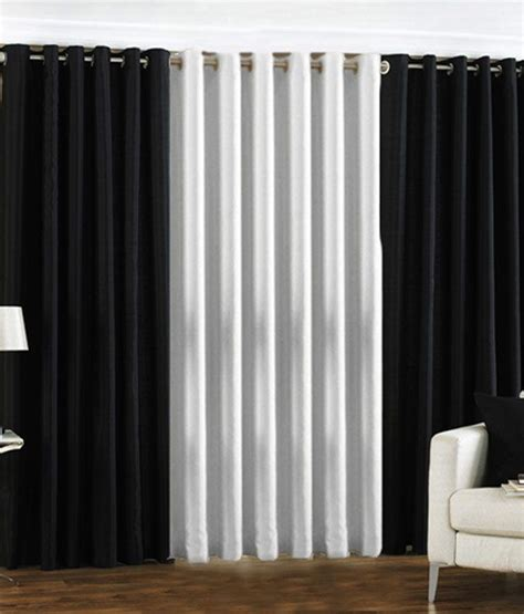 solid black curtains pindia set of 2 window eyelet curtains solid black white