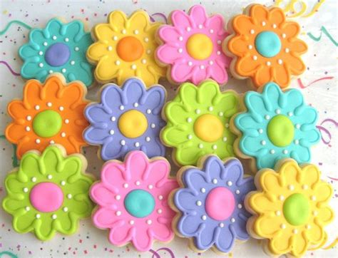 Summer Decorated Cookies by Gardens Summer And Cookie Favors On