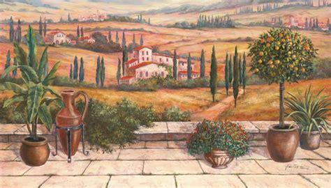 terrasse toskana a heins terrasse in der toskana leinwandbild auf