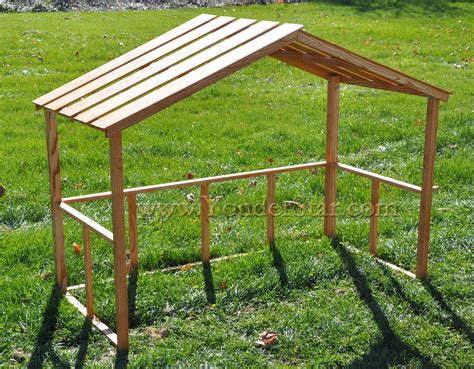 wooden stable  large outdoor nativity set