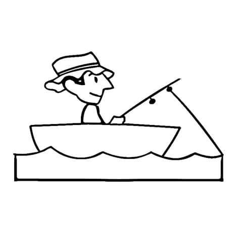 fishing boat coloring page supercoloring com