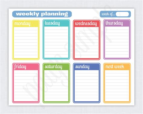 free printable planner pages for students simple weekly planner free printable weekly planner