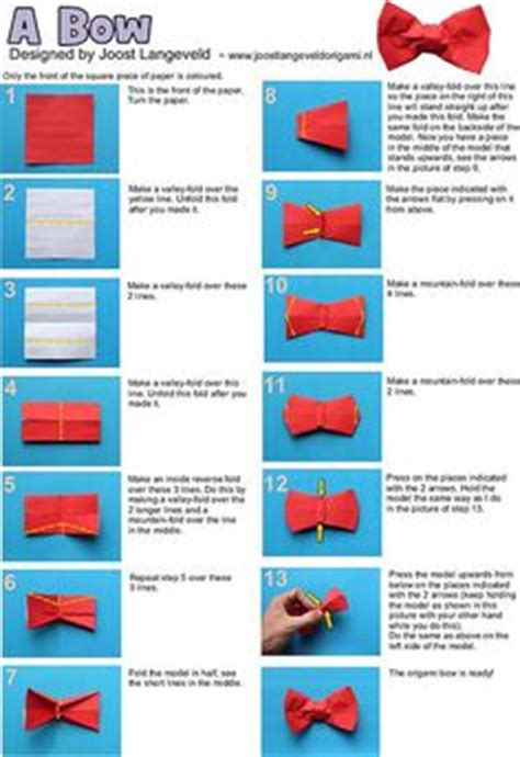 How To Make A Origami Bow Tie - 1000 ideas about origami bow on origami easy