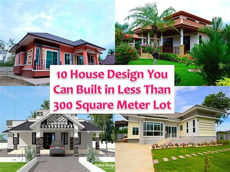house design 150 square meter lot 10 home blueprints and floor plans you can built in less than 300 sq m lot