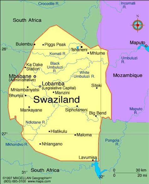 swaziland map swaziland kartenrand