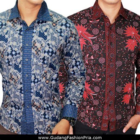 Kemeja Batik Modern 10 kemeja batik lengan panjang slimfit pria s