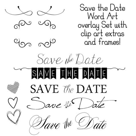 save the date templates cyberuse instant save the date word overlays and free gift
