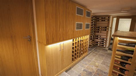 wine cellar made with european and american oak