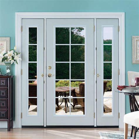 Doors: interesting french doors with sidelights Andersen