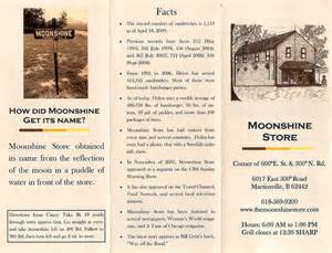 Moonshine Menu Menu Brochure Moonshine Store Flickr Photo