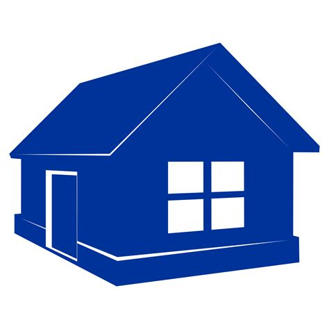 vector for free use blue home vector