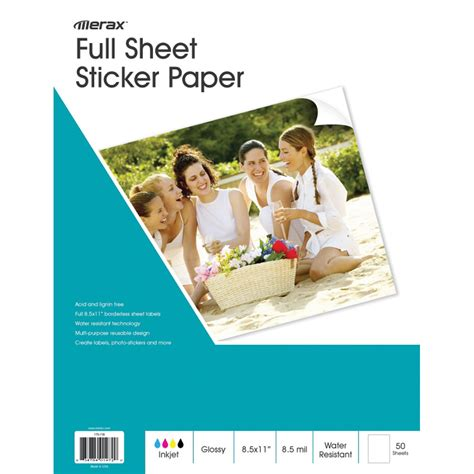 silhouette printable sticker paper 8 5 x11 8 pkg clear 8 5 x 11 sticker paper custom sticker